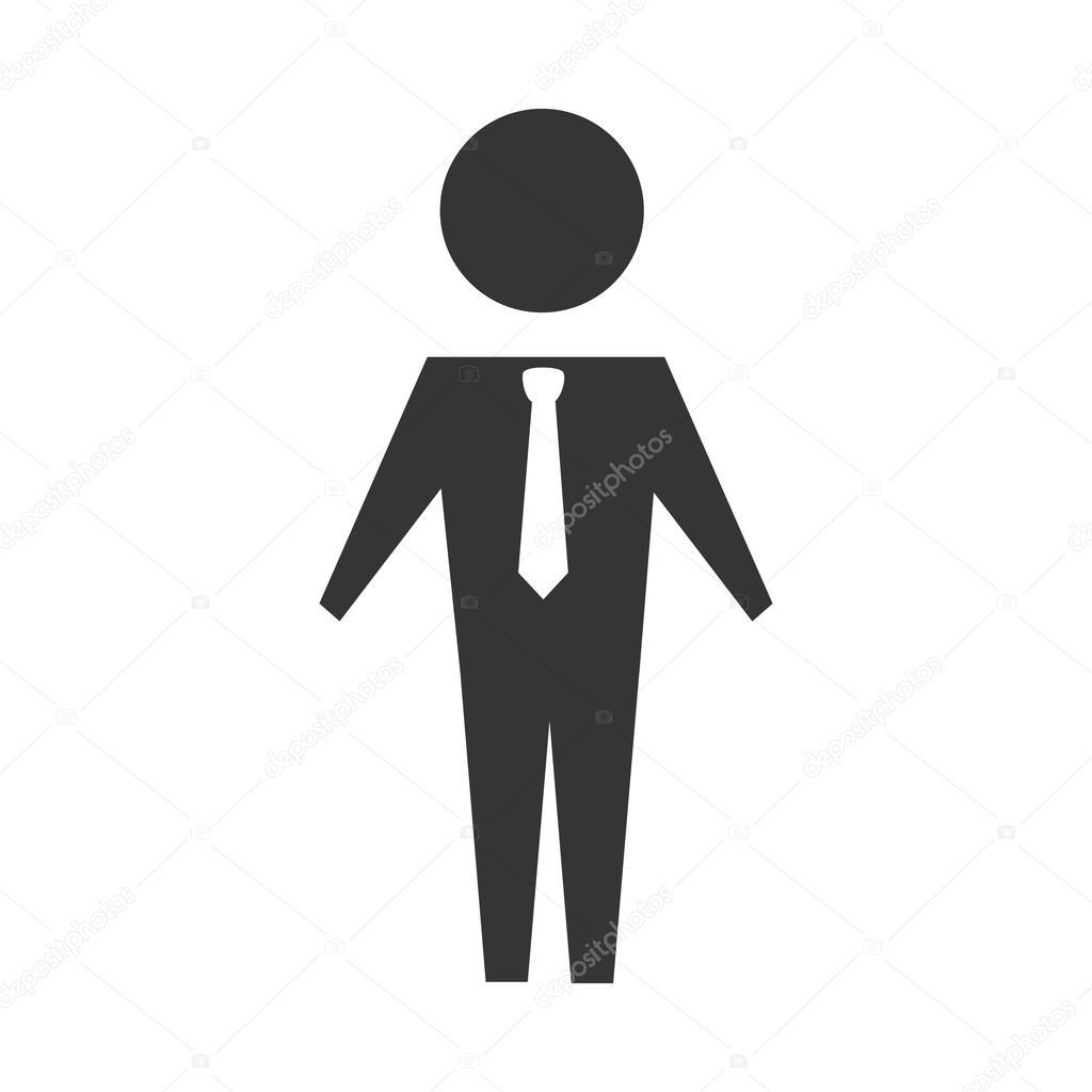 d7a45760cd Férfi öltöny nyakkendő személy férfi üzleti üzletember silhouette vektor  grafikus elszigetelt és lapos illusztráció — Vektorok yupiramos ...