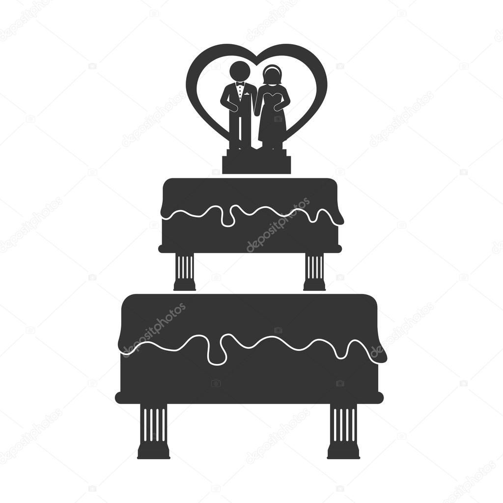 wedding cake bake husband wife icon vector graphic — Stock Vector ...