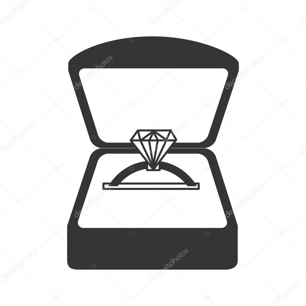 Ring Diamond Engage Wedding Icon Vector Graphic Stock