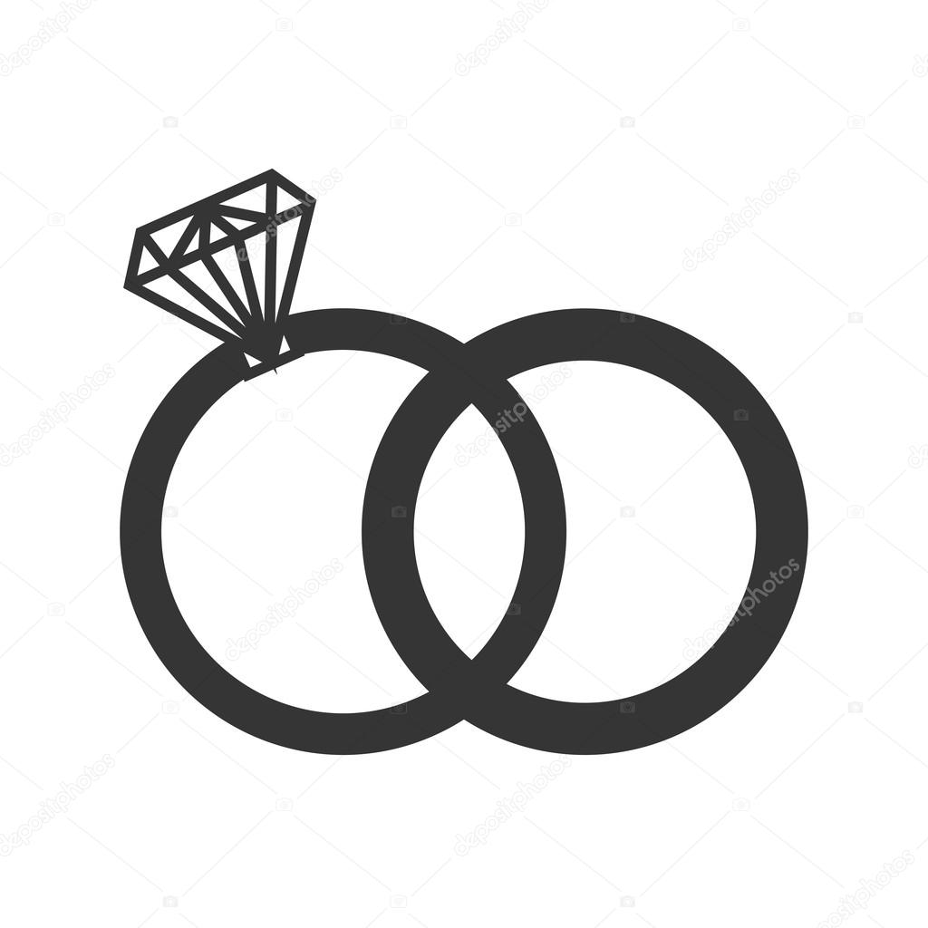 ring diamond wedding icon vector graphic Stock Vector yupiramos