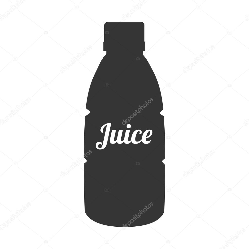 Bottle silhouette juice icon vector graphic — Stock Vector ...