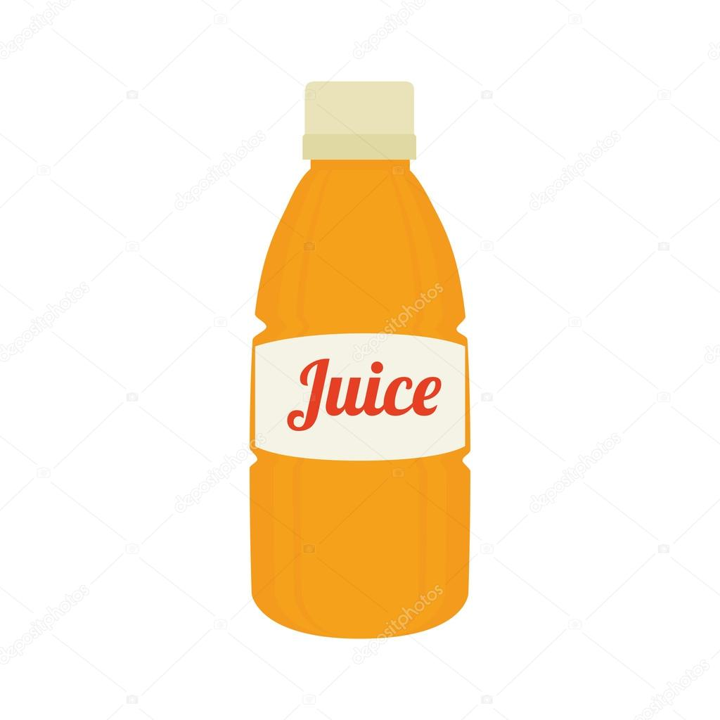 Bottle orange juice icon vector graphic — Stock Vector ...