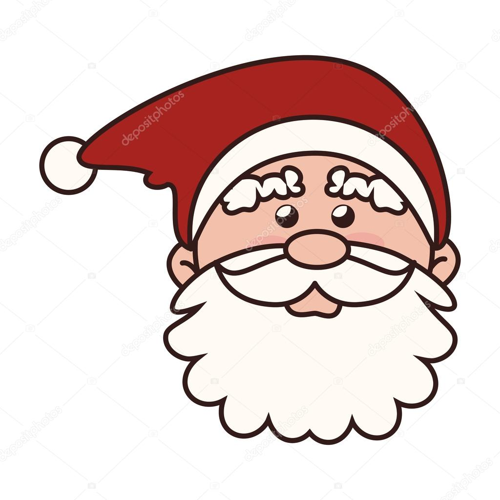 Christmas face santa claus icon vector graphic for Clipart natale free download