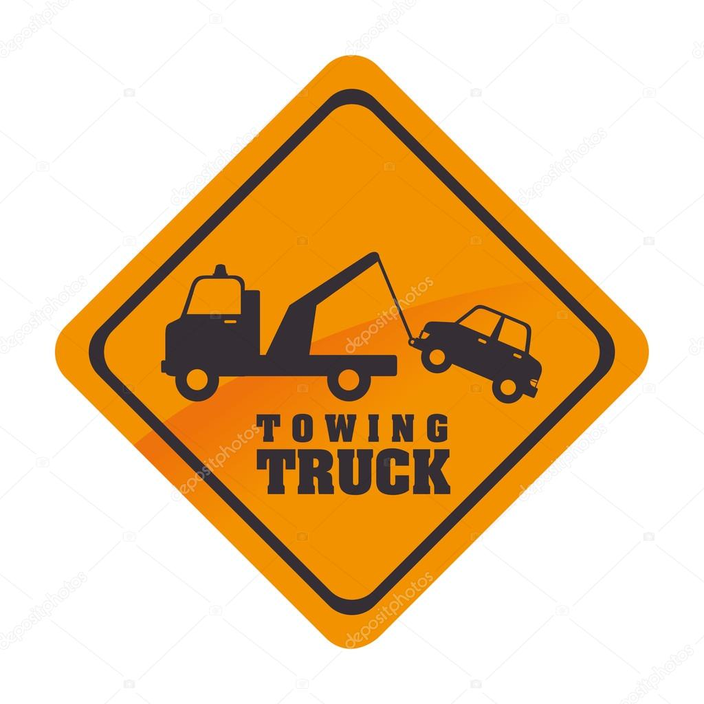 Towing Truck Symbol Icon Vector Graphic Vector De Stock
