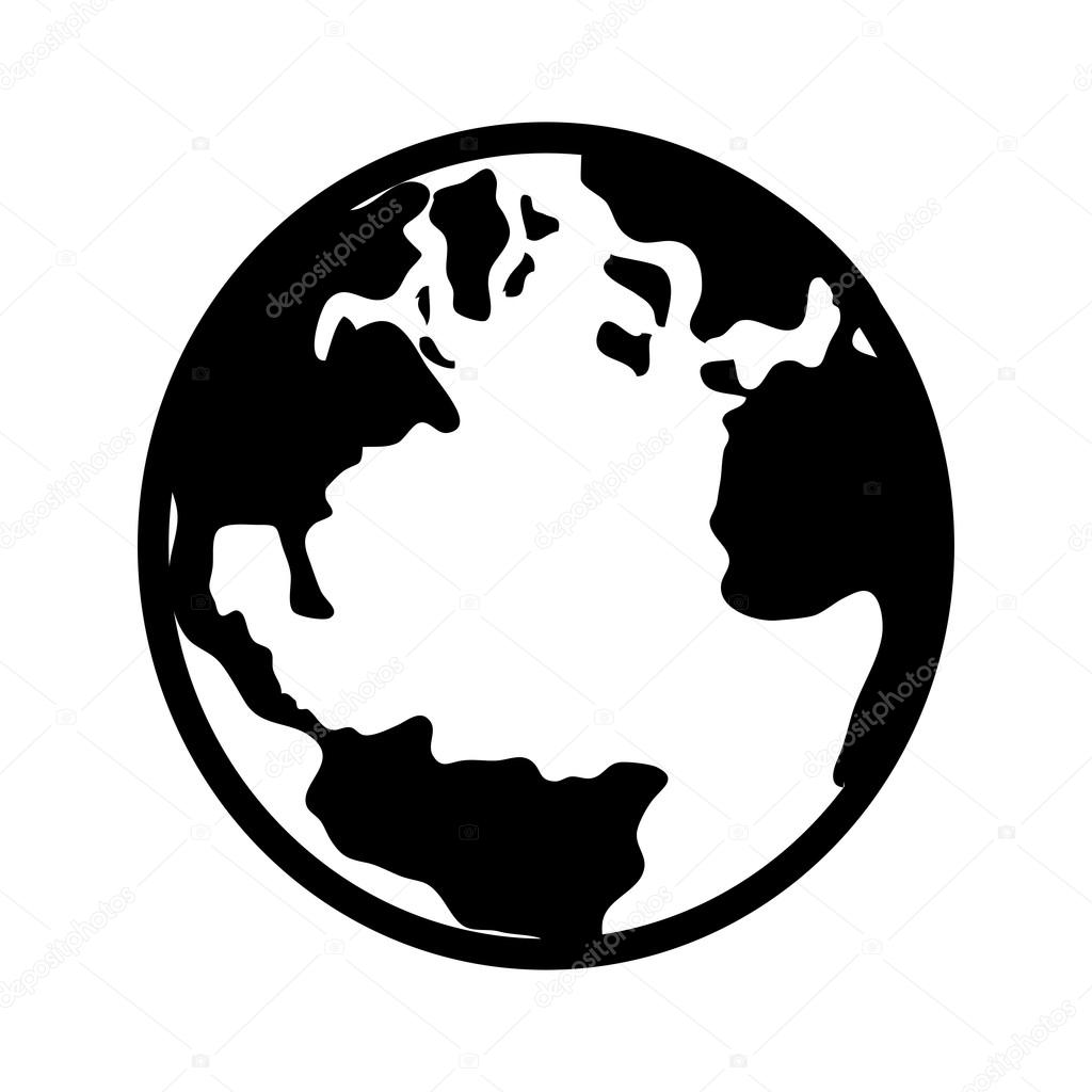 World earth planet map icon vector stock vector yupiramos 120121602 world earth planet map icon vector stock vector gumiabroncs Choice Image