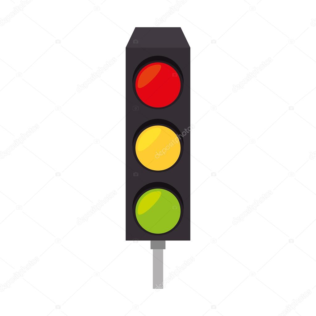 light traffic signal street stoplight icon — Stock Vector ... for Traffic Light Yellow Icon  284dqh