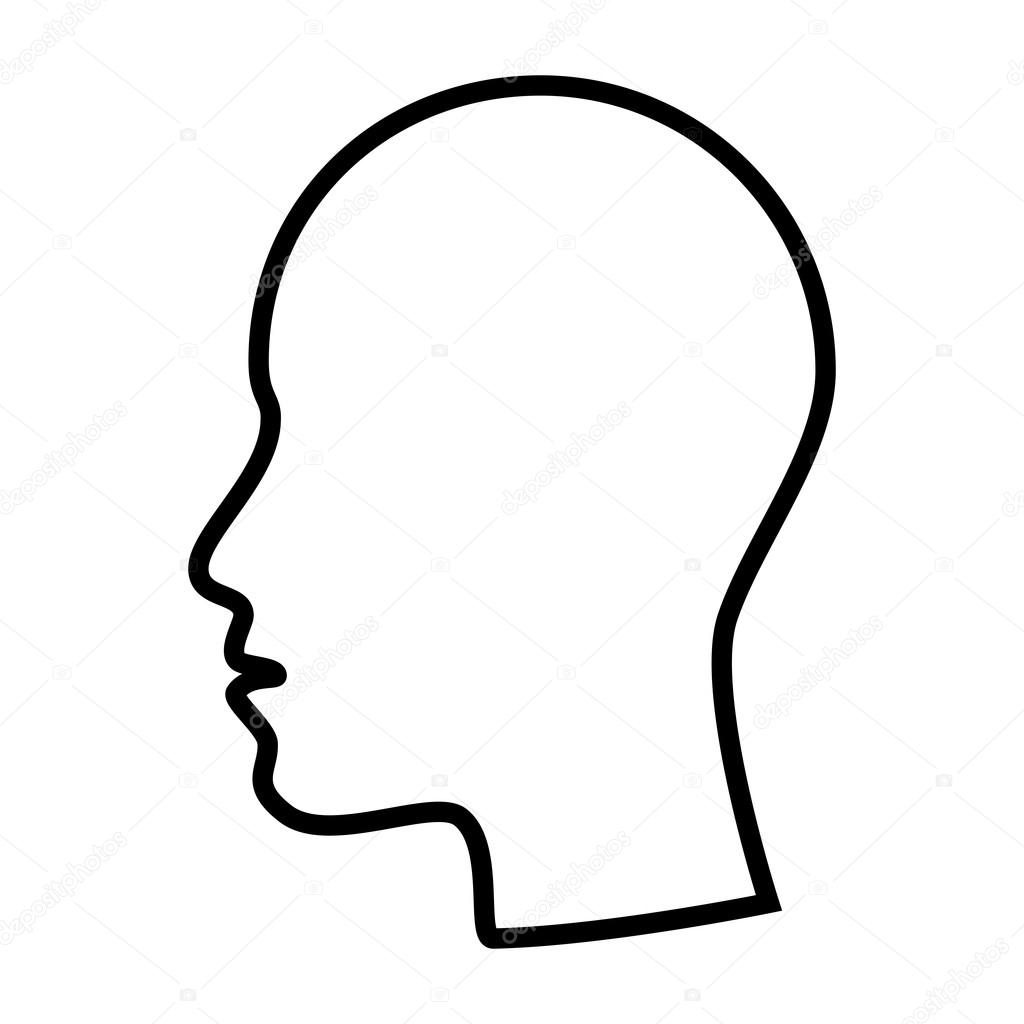 Side profile face cartoon