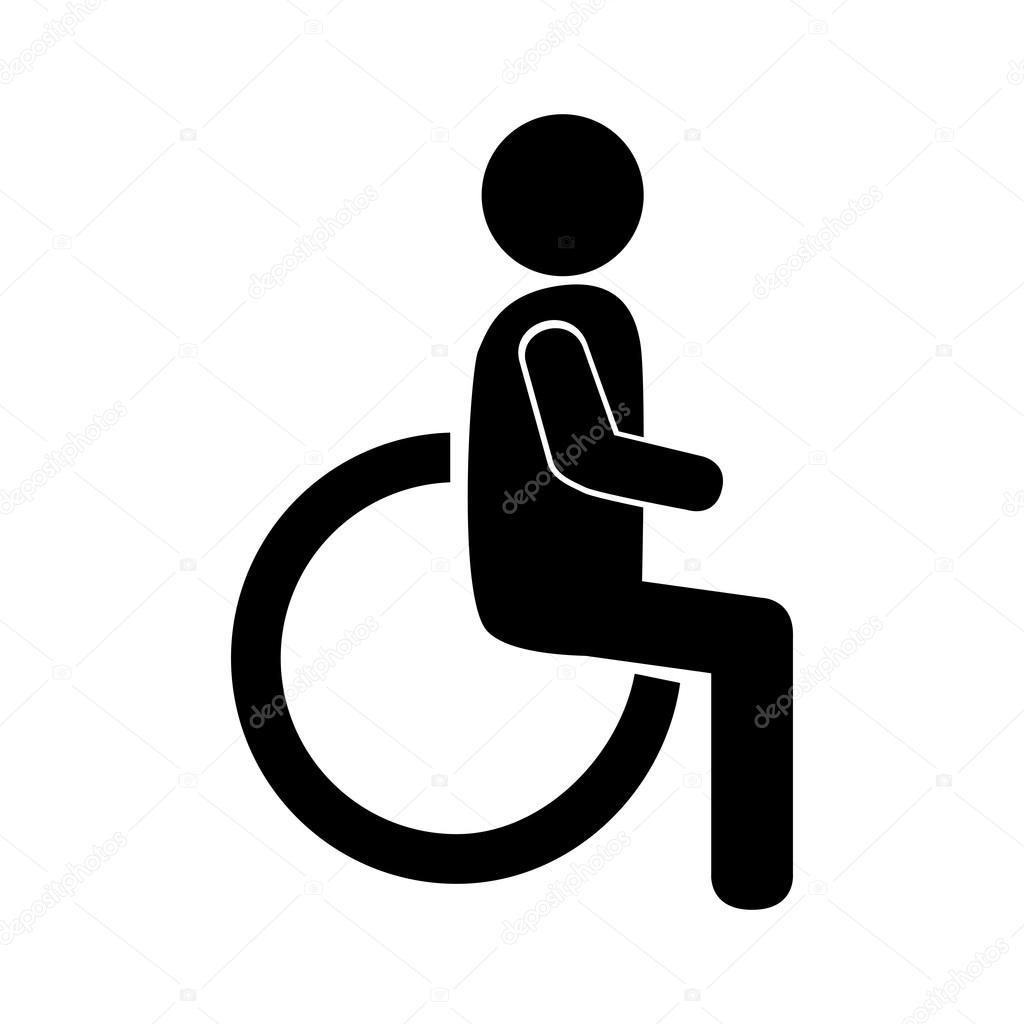 disability sign wheelchair — Stock Vector © yupiramos #120136682