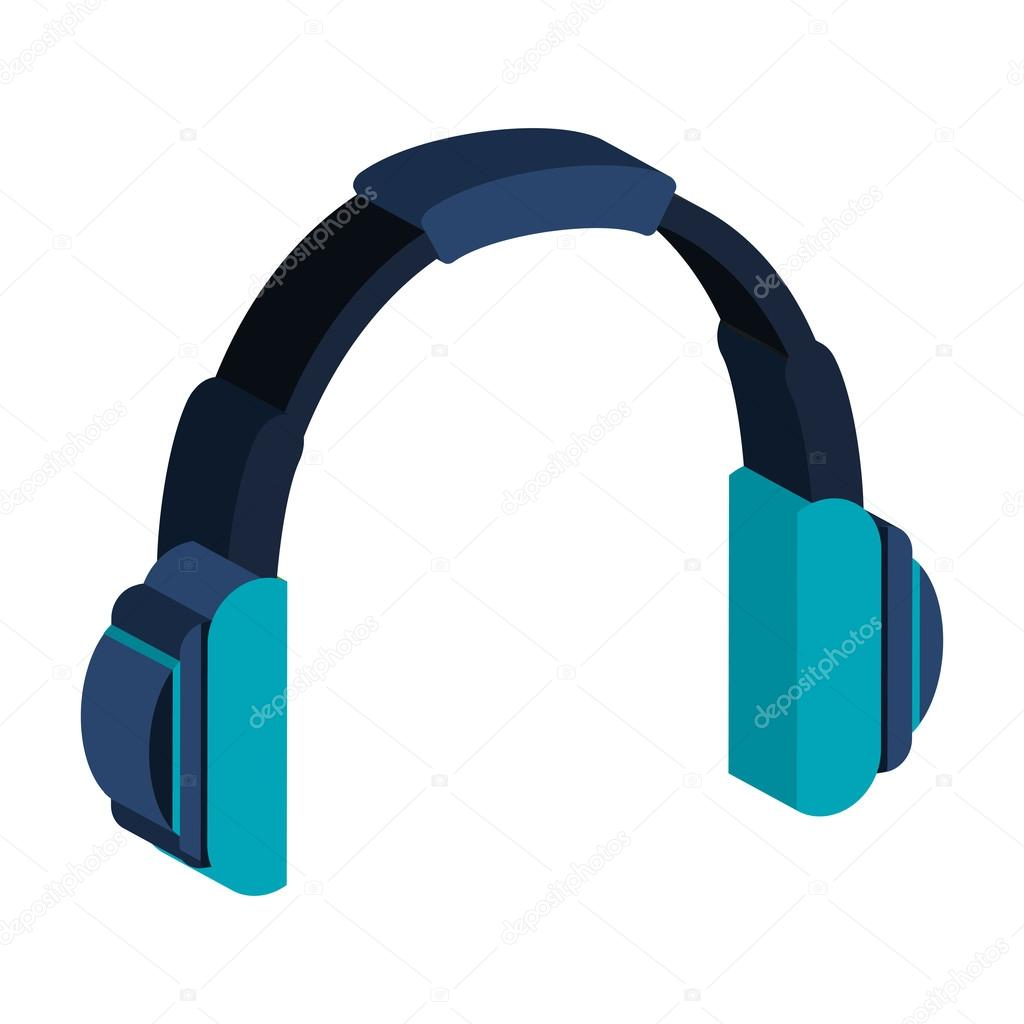 Kopfhörer-Draht-Musik-Ikone — Stockvektor © yupiramos #120161740