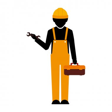 builder construction worker wrench