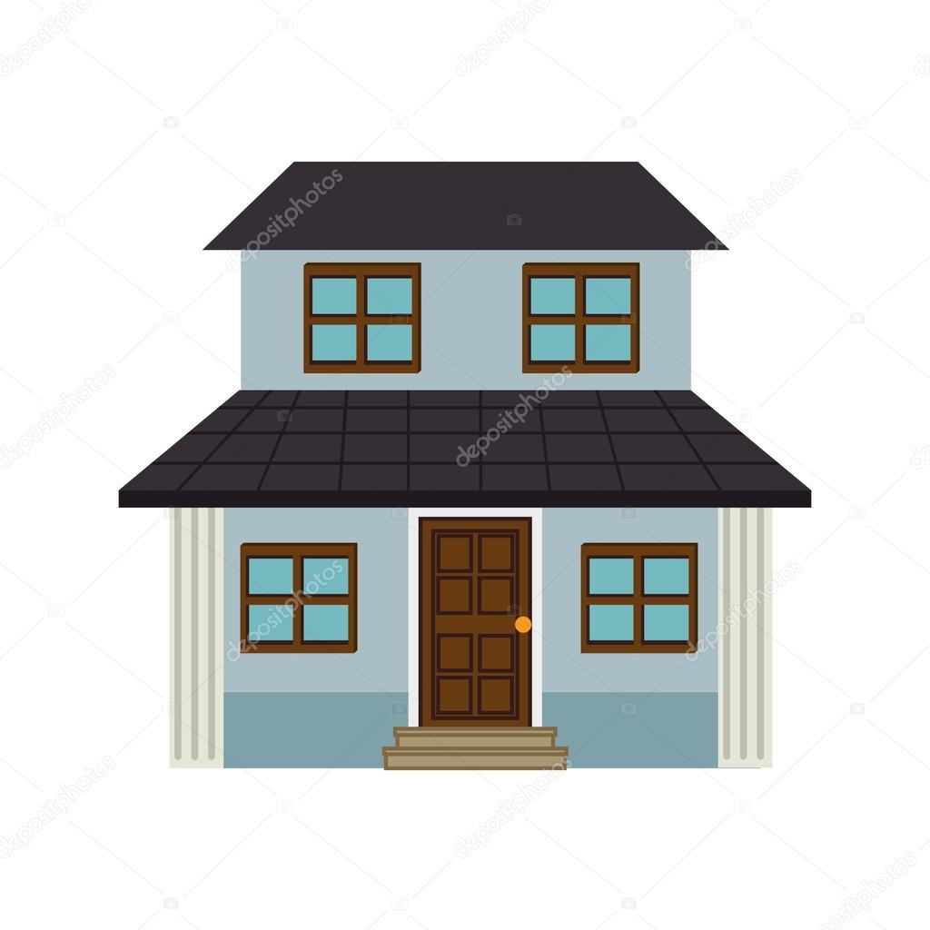 Wohnarchitektur modernen Hausbau — Stockvektor © yupiramos #120187054