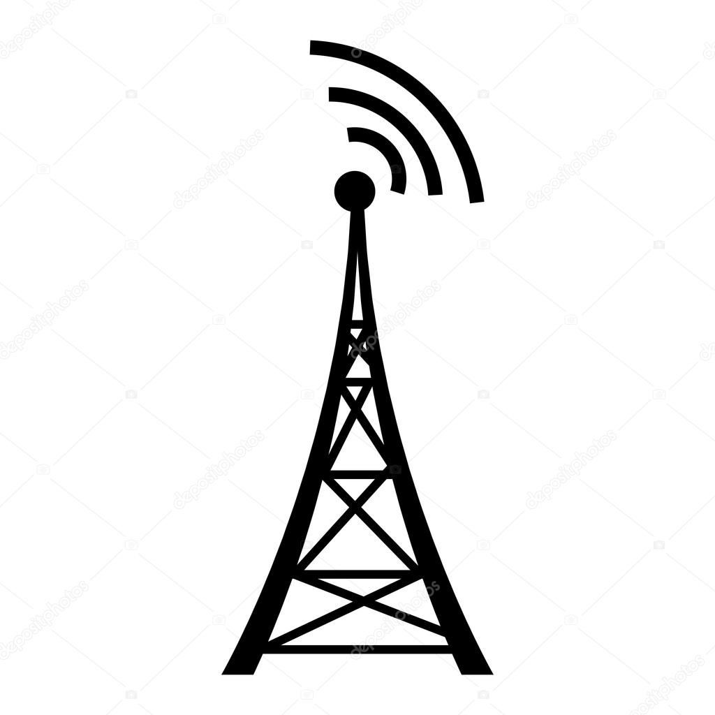 satellite tower clipart