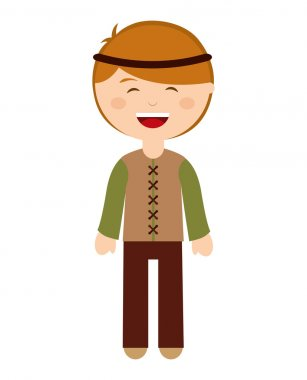 manger character cartoon isolated icon