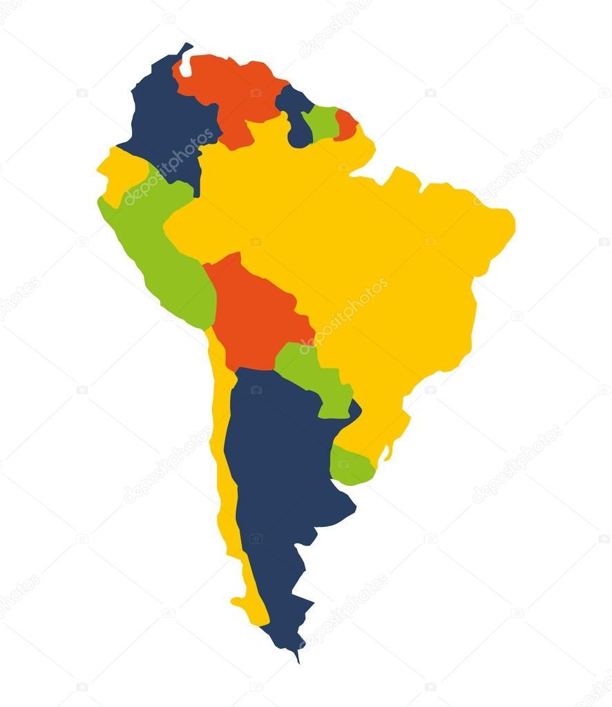 south american map isolated icon — Stock Vector © yupiramos #120292876