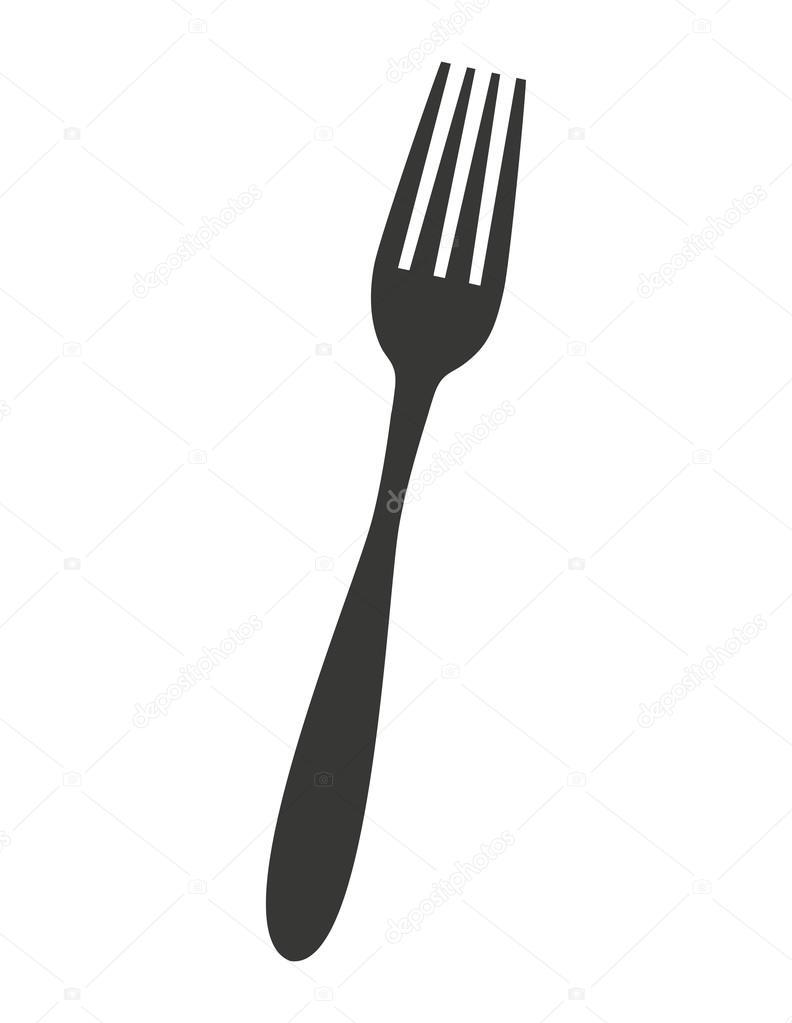 cubiertos utensilios de cocina aislados icono — Vector de stock ...