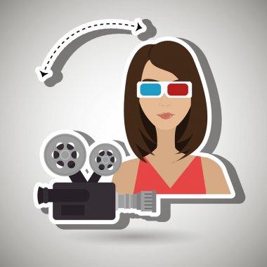 woman movie video theater