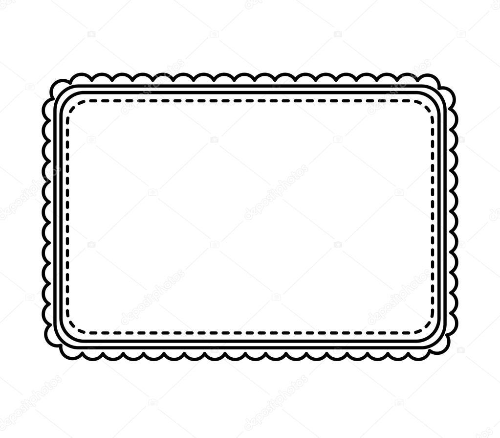 elegante sch ne rahmen isoliert symbol stockvektor yupiramos 120445194. Black Bedroom Furniture Sets. Home Design Ideas