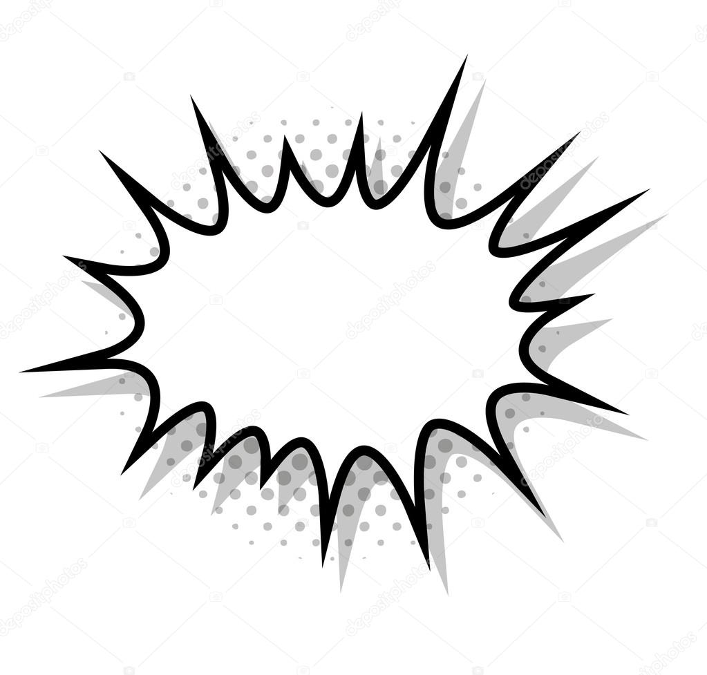 splash bubble comic isolated icon stock vector yupiramos 120646302