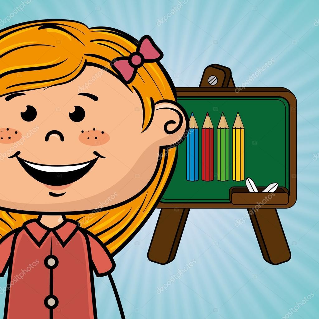 color de dibujos animados de tablero de estudiante — Archivo ...