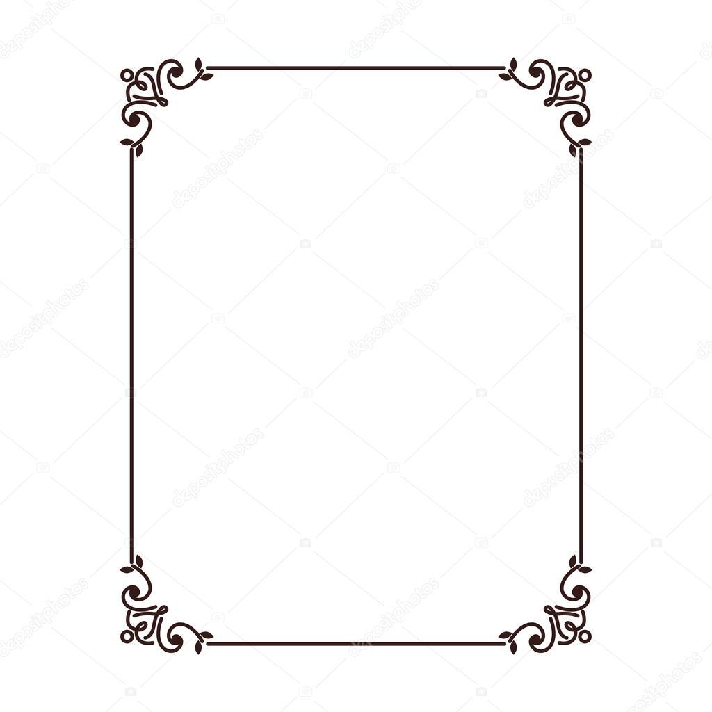 Diseño de tarjeta de marco — Archivo Imágenes Vectoriales ...