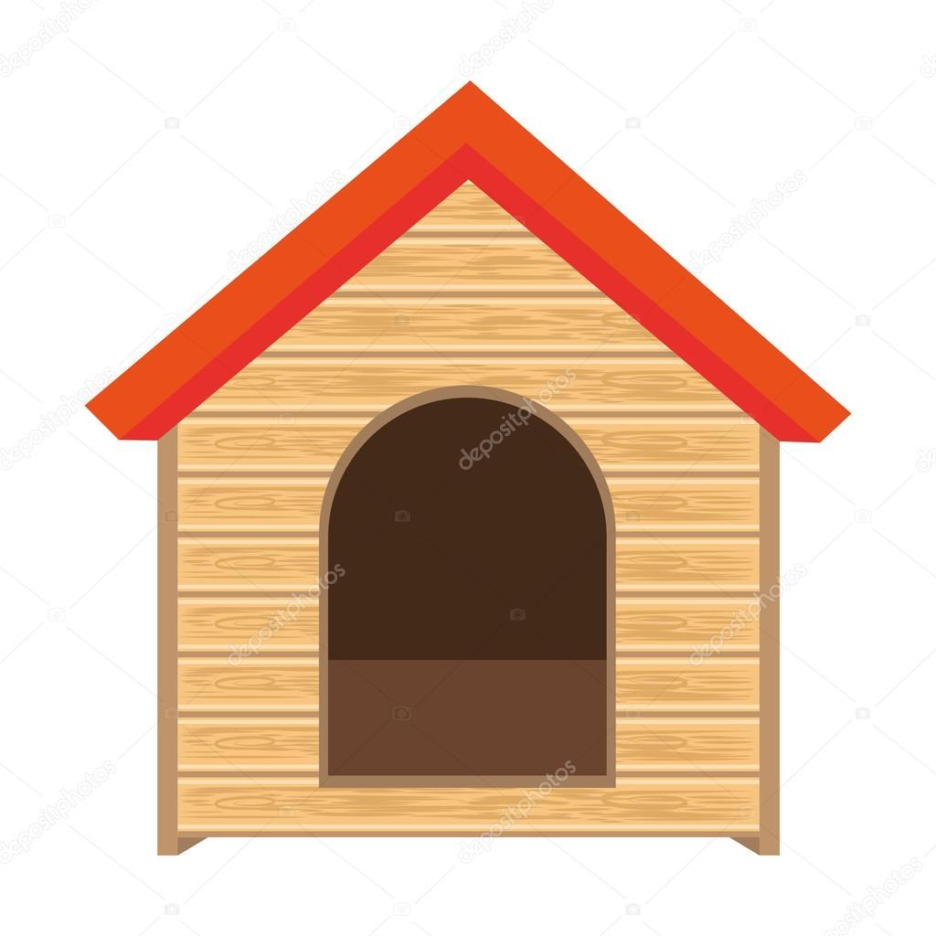 61a41935bf1349 Pies dom z drewna dom domowych zwierząt psów wektor ilustracja — Wektor od  yupiramos