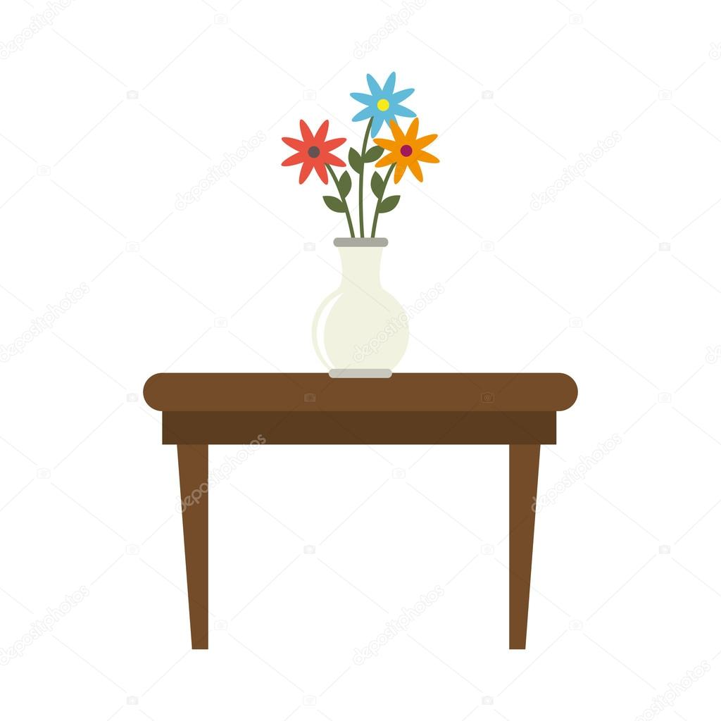 Tea table with vase of flowers stock vector yupiramos 121100306 tea table with vase of flowers stock vector reviewsmspy