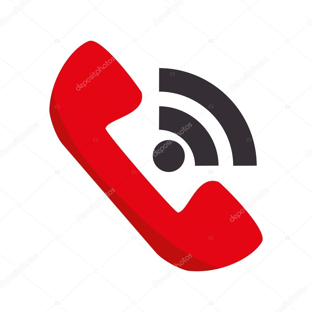 Red telephone handset call — Stock Vector © yupiramos #121101148
