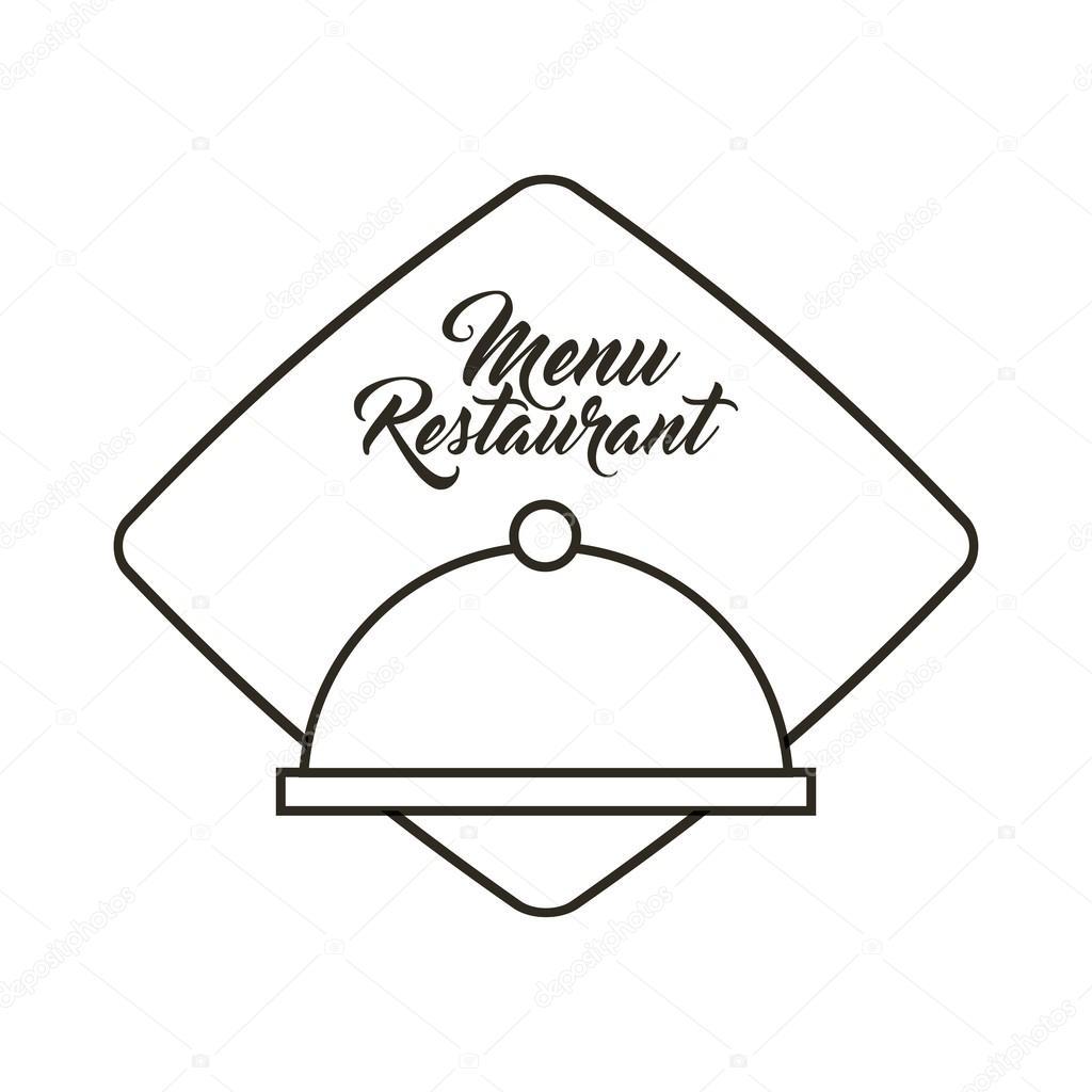 menú de restaurante de servidor de bandeja — Vector de stock ...