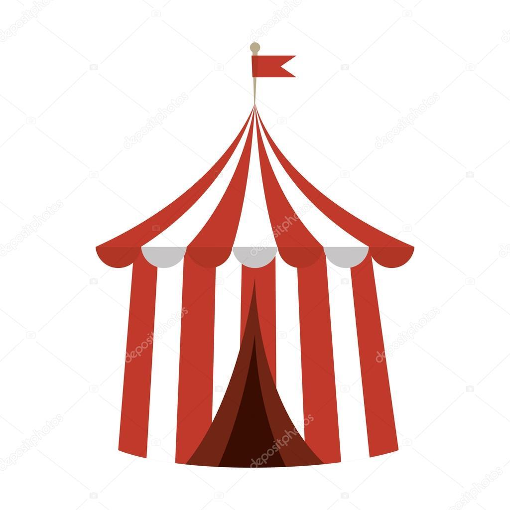 Circus carnival tent red and white striped funfair festival vector illustration u2014 Vector by yupiramos  sc 1 st  Depositphotos & circus carnival tent u2014 Stock Vector © yupiramos #121677542