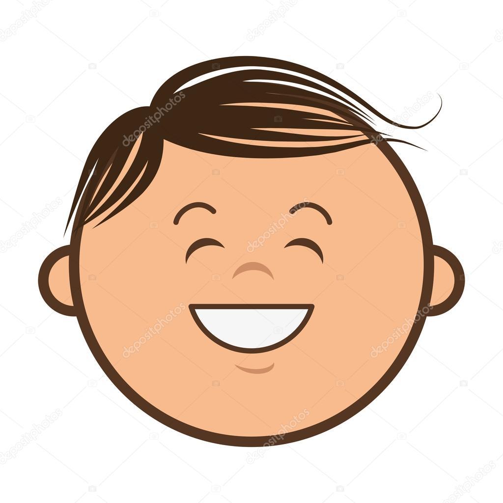 Fumetto sorridente bambino vettoriali stock yupiramos for Scarica clipart