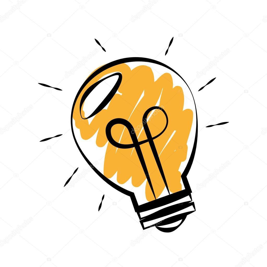 Métaphore de l'ampoule = idée !
