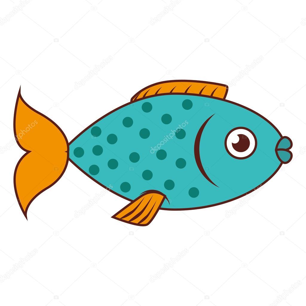 分離された魚海野生動物食品アイコン — ストックベクター © yupiramos