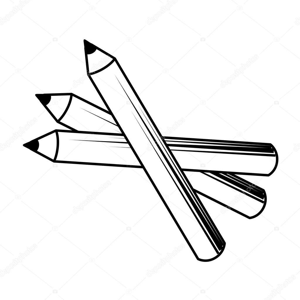 Pencil make up design isolated