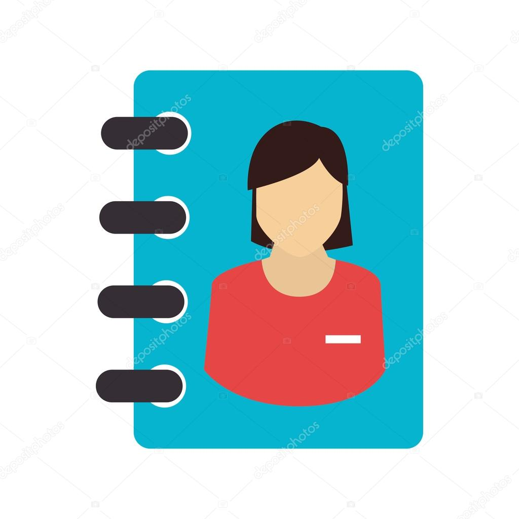 Icon directory notebook school write isolated — Stock Vector ...