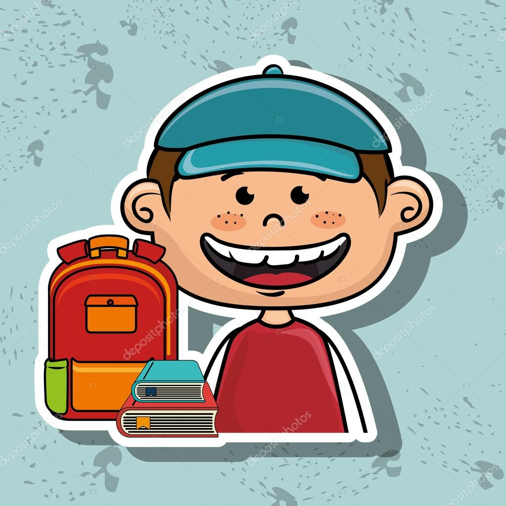 Studentin Tasche Farbbuch — Stockvektor #122096466