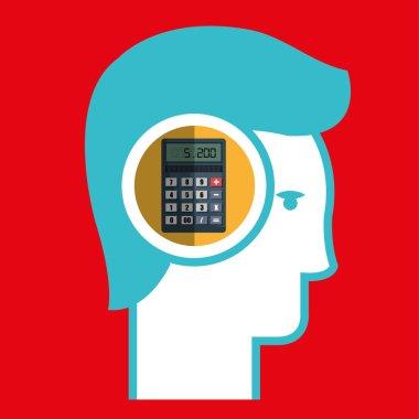 silhouette calculator maths icon