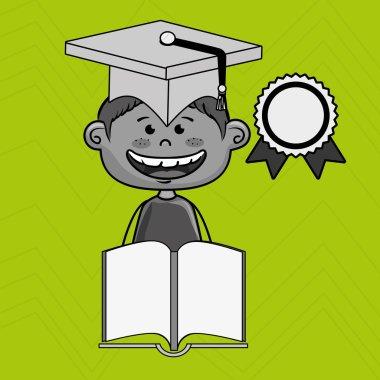 boy student book cap