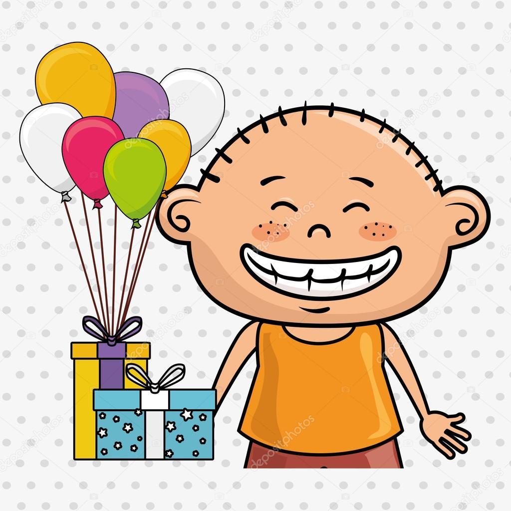 regalos de globos chico — Archivo Imágenes Vectoriales © yupiramos ...