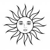 Fotografie sun face astrology