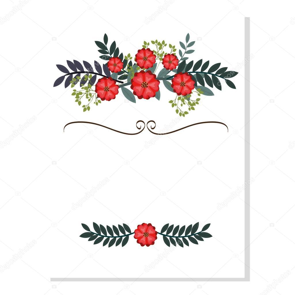 vintage flowers decoration invitation card stock vector