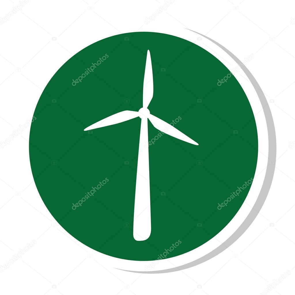 windmill silhouette energy icon stock vector yupiramos 122839370