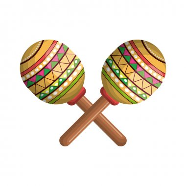maracas instrument musical with mexican theme