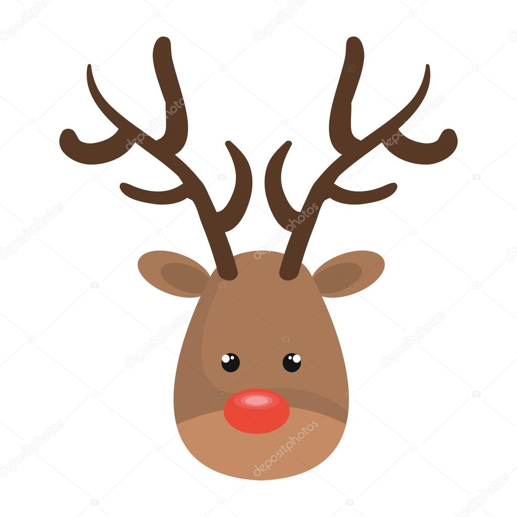 cerf de noel cerf de Noël de dessin animé — Image vectorielle yupiramos  cerf de noel
