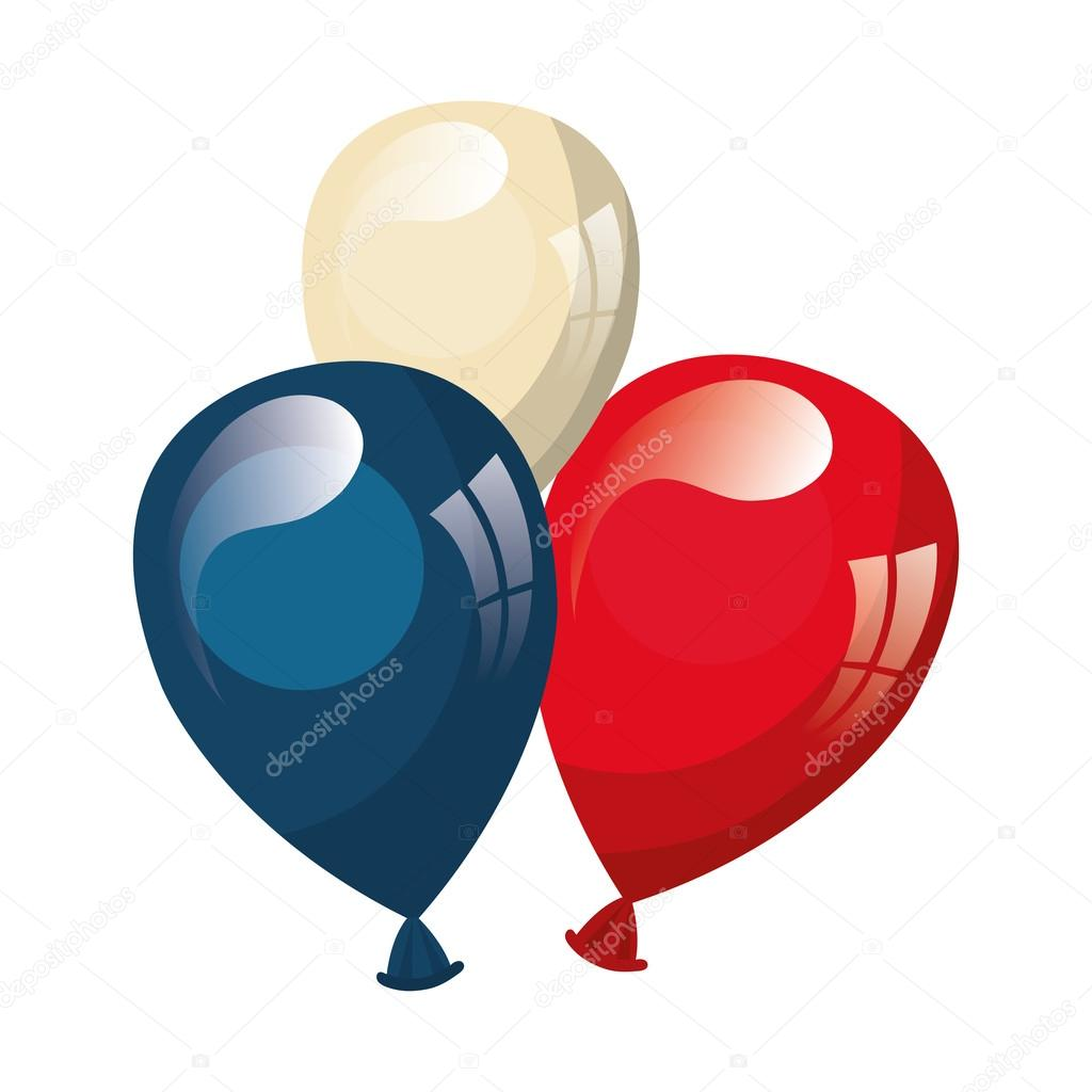 Globos con los colores patrios de estados unidos vector for Decoracion estados unidos