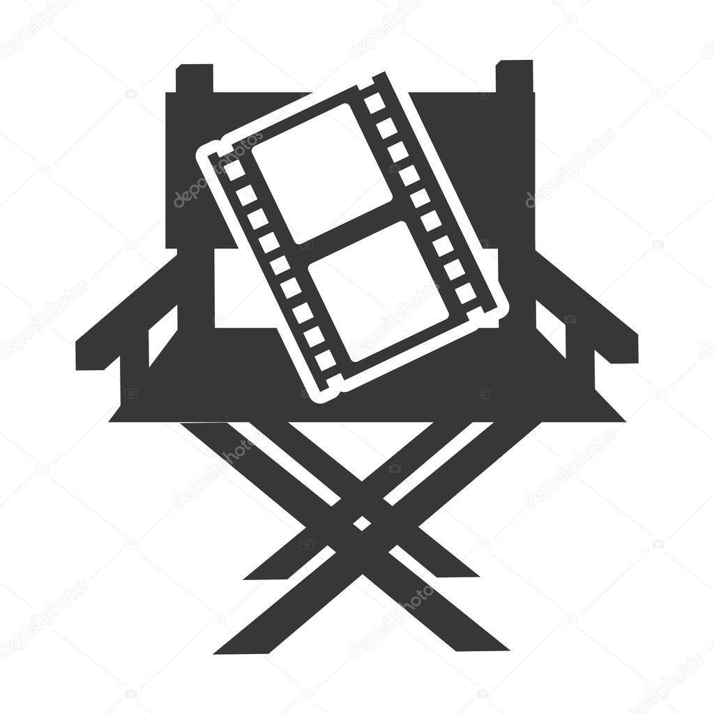 Silla de director con el icono de cine vector de stock yupiramos 122947960 - Sillas director de cine ...