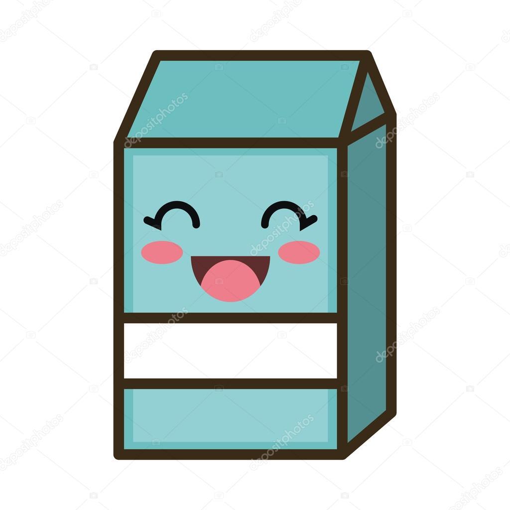 Kawaii Cartoon Milk Box Stock Vector C Yupiramos 122948986