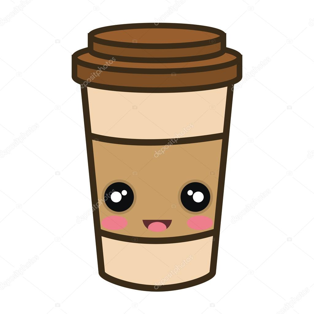 kawaii dibujos animados port u00e1til taza de caf u00e9 vector de coffee cup clip art svg coffee cup clip art bing