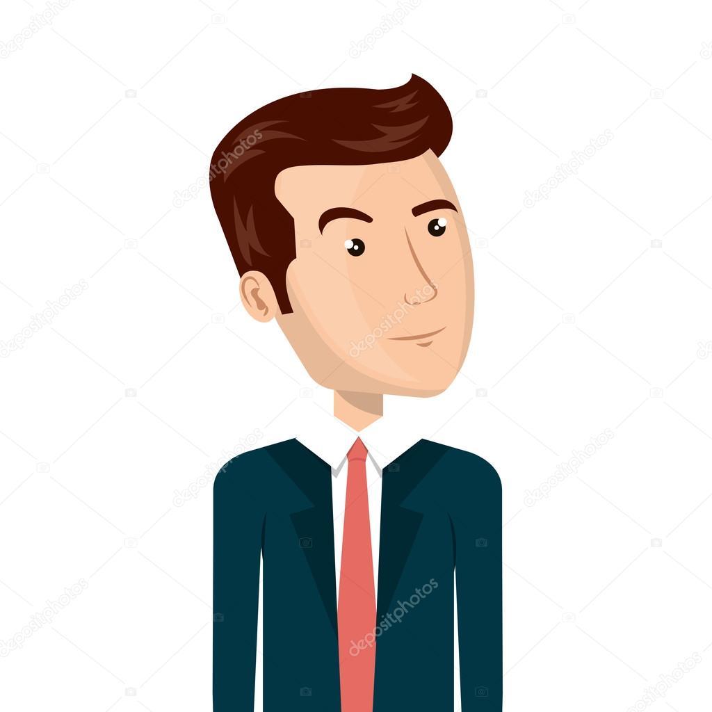 Caricature Homme caricature d'avatar homme — image vectorielle yupiramos © #122982632