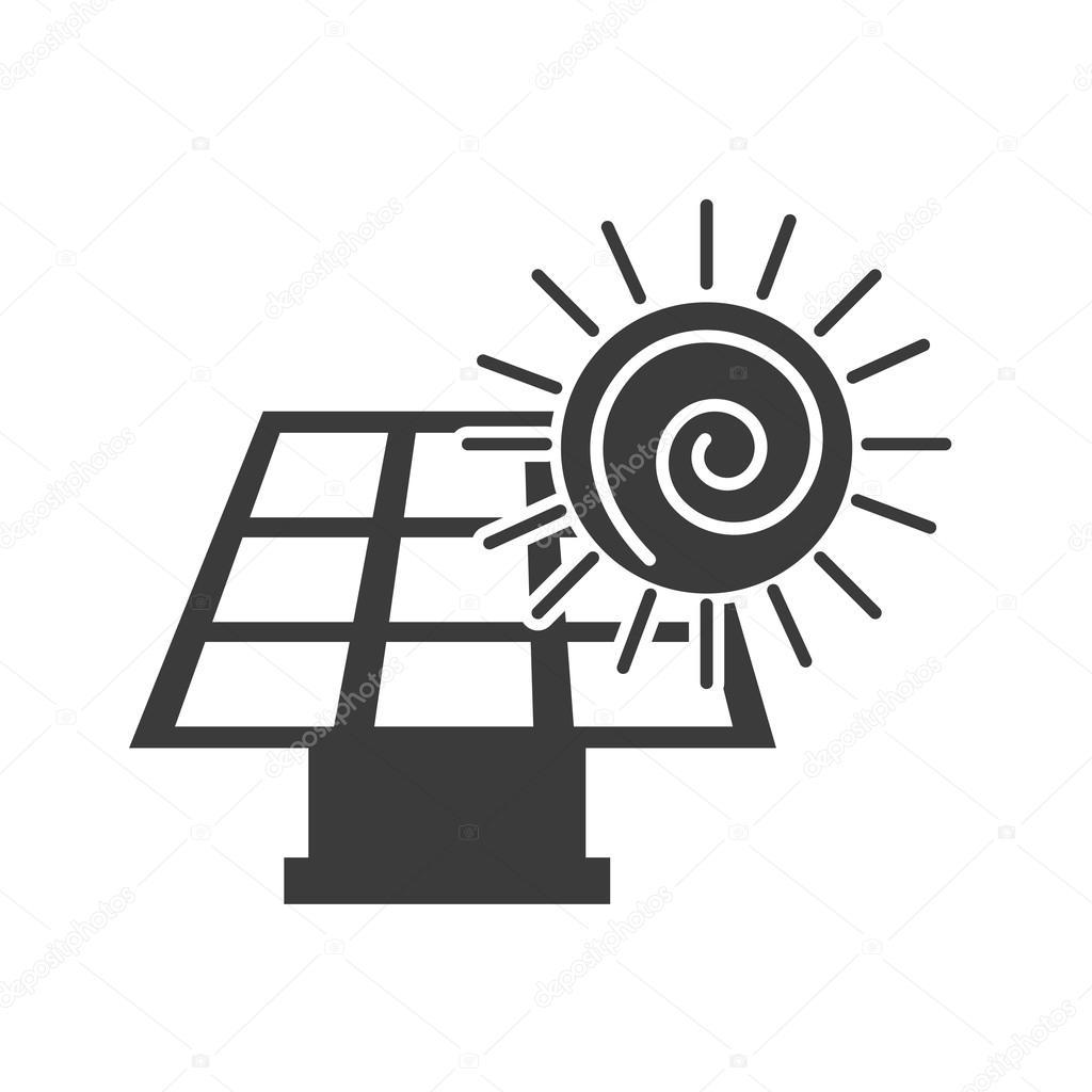solar energy panel with icon