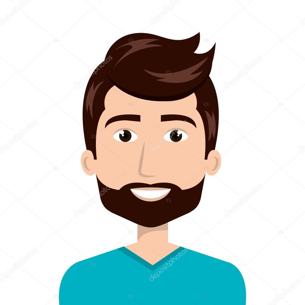 Caricature Homme caricature d'avatar homme — image vectorielle yupiramos © #123041468